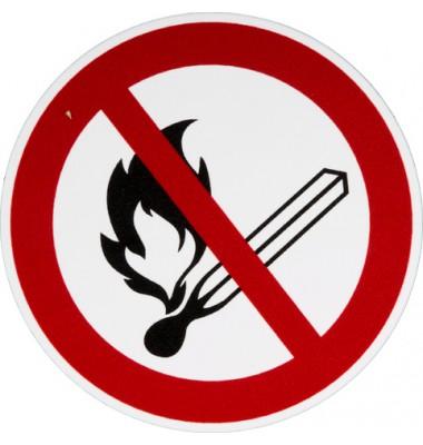 Schild Offenes Feuer verboten