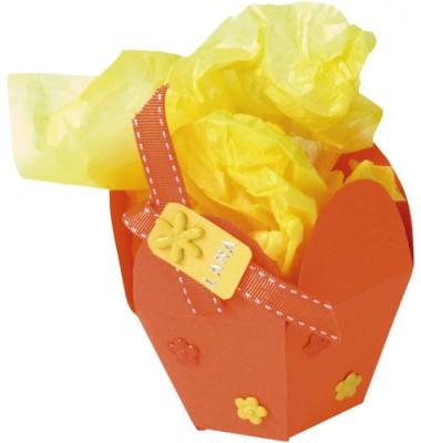 Gelbes Seidenpapier
