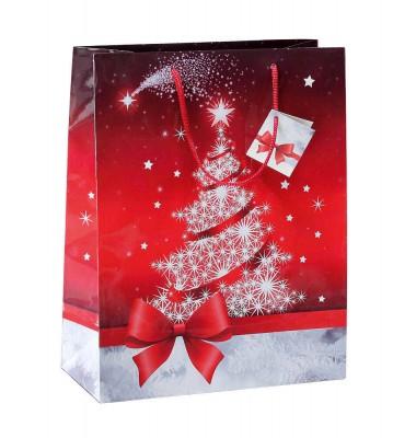 Rote Geschenktasche für Weihnachten