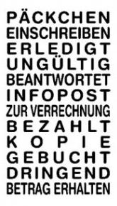 Lagertextstempel