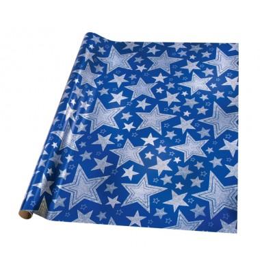 Blau-silbernes Geschenkpapier für Weihnachten