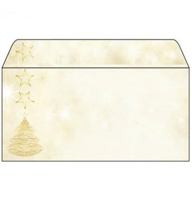 Briefumschlag Weihnachten ohne Fenster