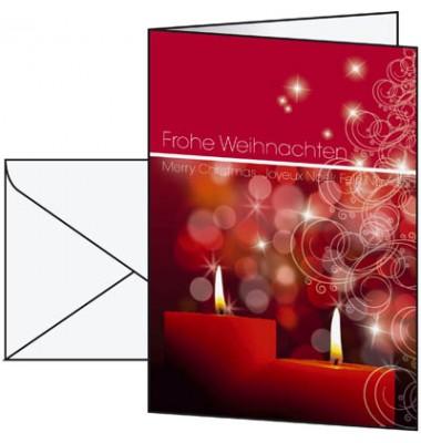 Karte Weihnachten Kerzen