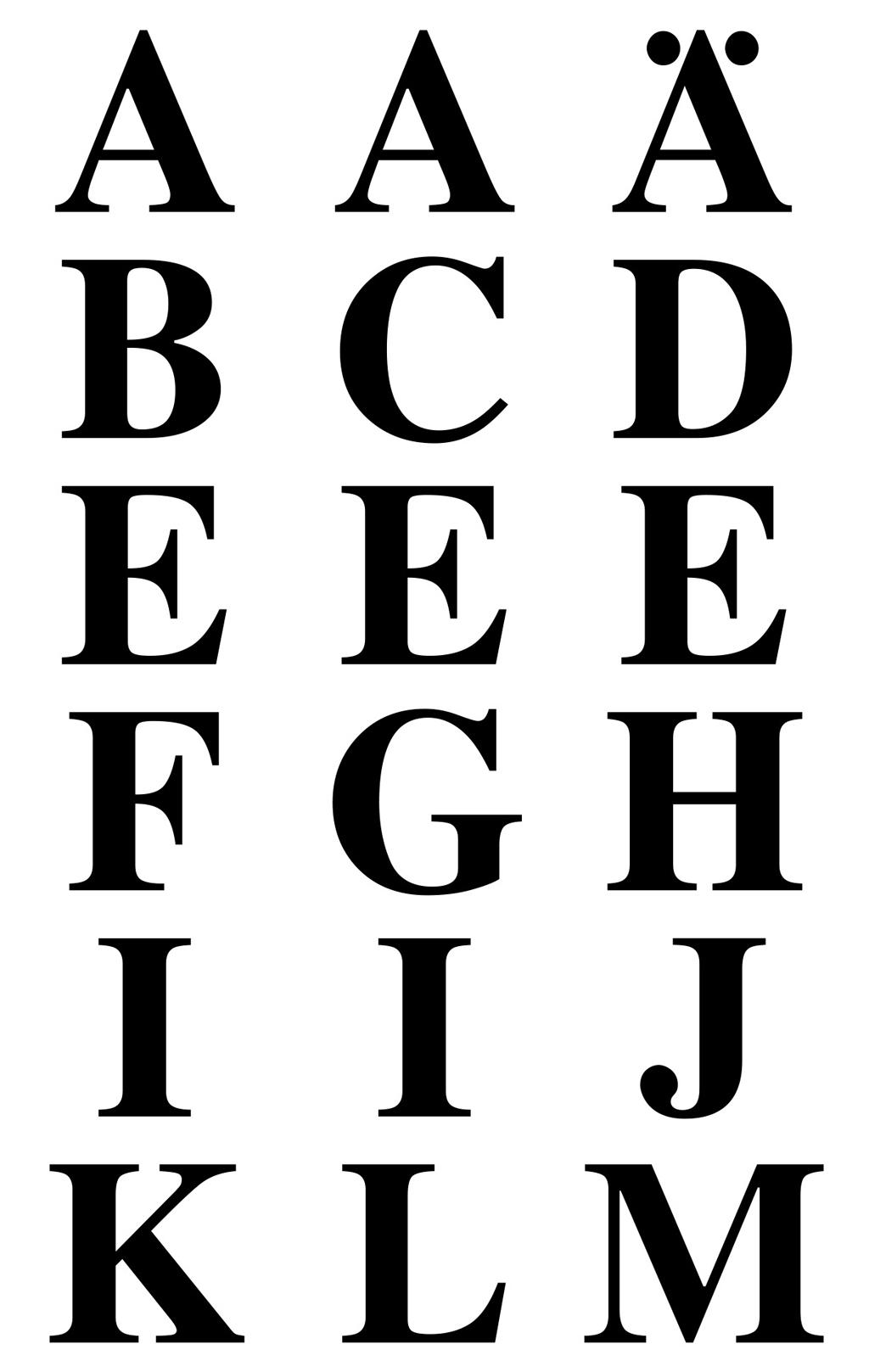 Buchstabenaufkleber