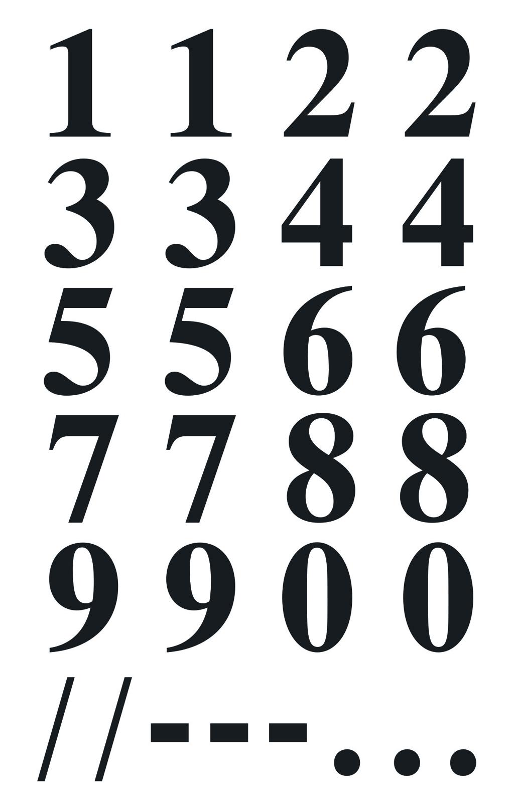 Zahlenaufkleber