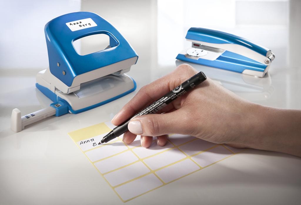 Namensetiketten zur Beschriftung mit Stiften