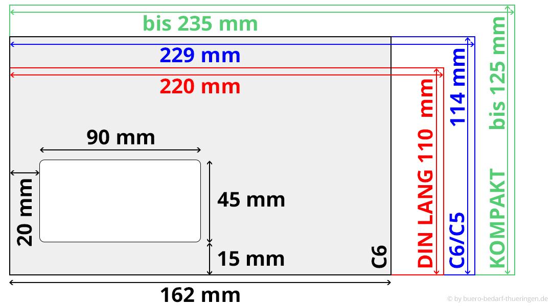 Tabelle Briefformate