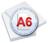 Kopierpapier im Format A6