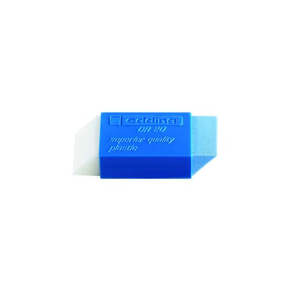 Edding Radiergummi DR20 weiss/blau 46x19,5x11,5mm