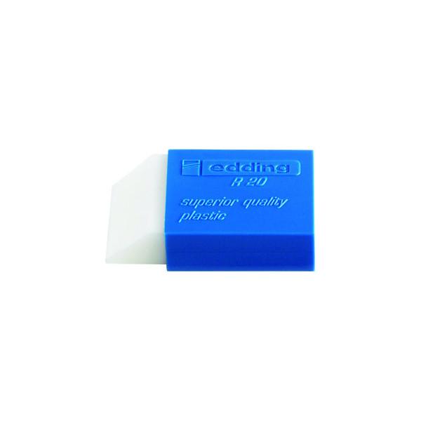 Edding Radiergummi R20 weiss/blau 44x24x11,5mm