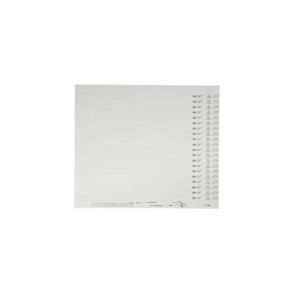 Elba Organisationsstreifen vertic 1 weiss blanko 10 Bogen
