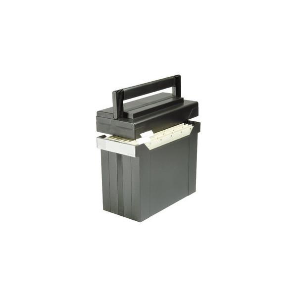 Elba Hängemappenbox Go-Set-Go 80492 schwarz bis 15 Mappen befüllt mit 5 Mappen