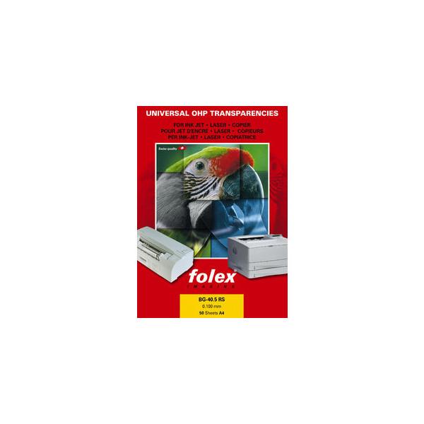 Folex Universalfolie BG-40.5 RS 29405.100.44100, A4, für Inkjetdrucker, S/W-Laserdrucker, Farb-Laserdrucker, S/W-Kopierer, Farb-Kopie
