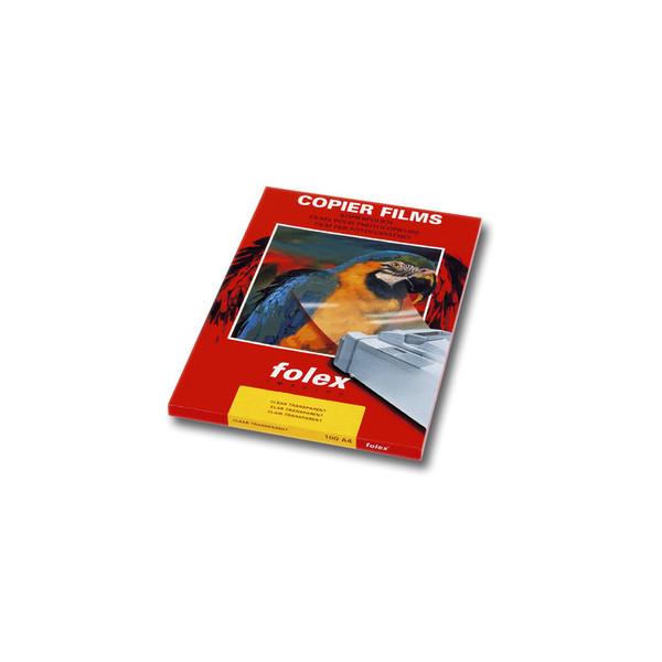 Folex Kopierfolie X-100 31000.100.44000, A4, für S/W-Kopierer, 0,1mm, Overhead-Folie, transparent klar, 100 Blatt