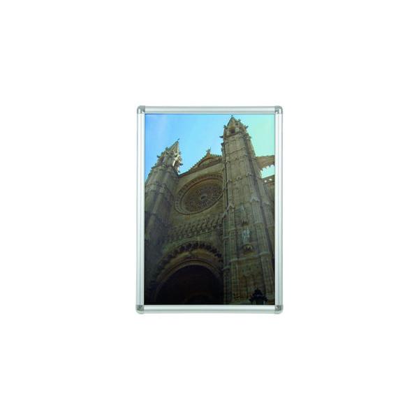 Franken Plakat-Klapprahmen BS070 silber A2 mit Antireflexfolie