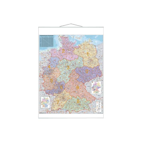 Franken Postleitzahlenkarte Deutschland 1:750000 97x137cm