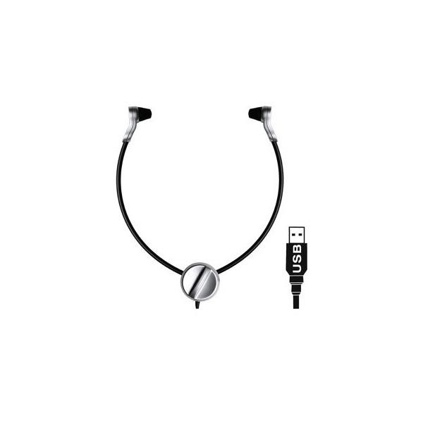 Grundig Kopfhörer Swingphone 568 USB schwarz-silber