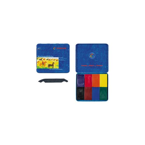 STOCKMAR Wachsmalblock 8 Farben