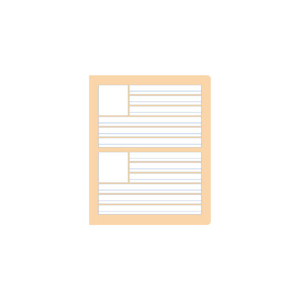 Formati Wörterheft W.8 Quart liniert mit Rand weiß 20 Blatt
