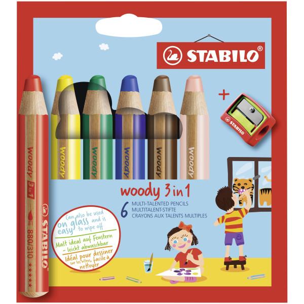STABILO Farbstiftetui Woody 6ST