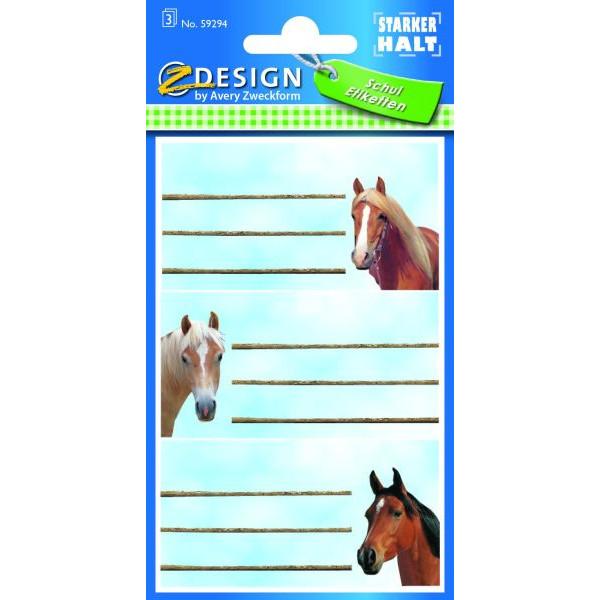 Zweckform Buchschild Pferdeköpfe