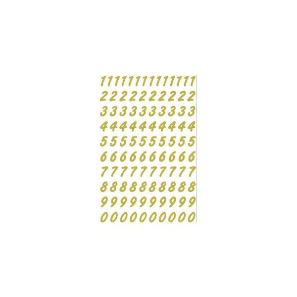 HERMA Zahl 0-9 wetterfest gold
