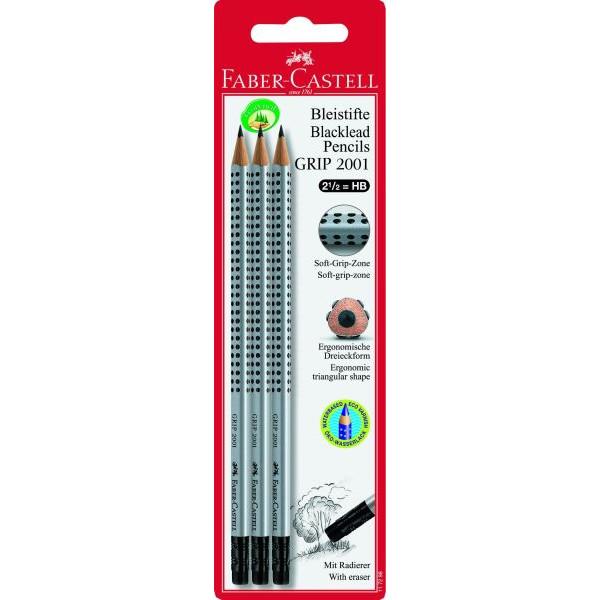 Faber-Castell Bleistift Grip 2001 HB m.Rad.