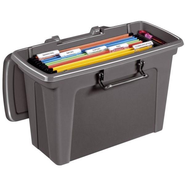 cep Hängemappenbox Strata grau bis 15 Mappen leer
