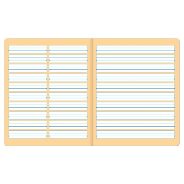 Formati Wörterheft W.9 Quart liniert mit Rand weiß 20 Blatt