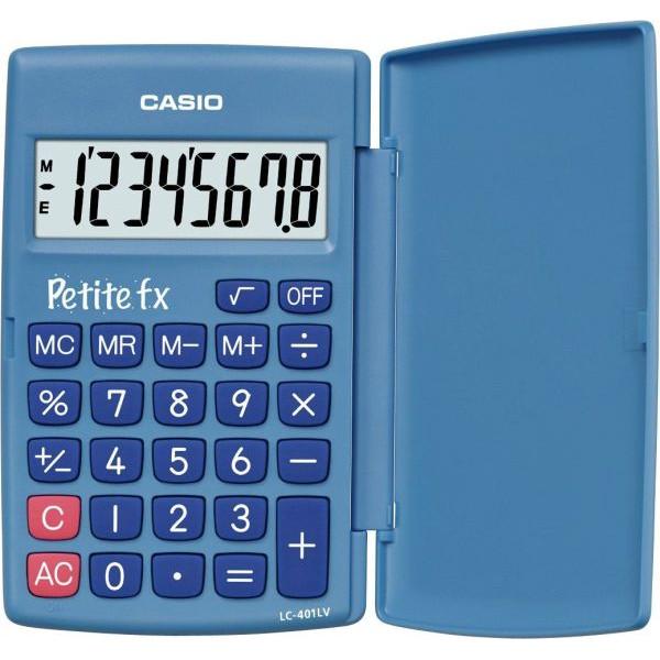 CASIO Taschenrechner Petite FX Batterie LCD-Display blau 1-zeilig 8-stellig