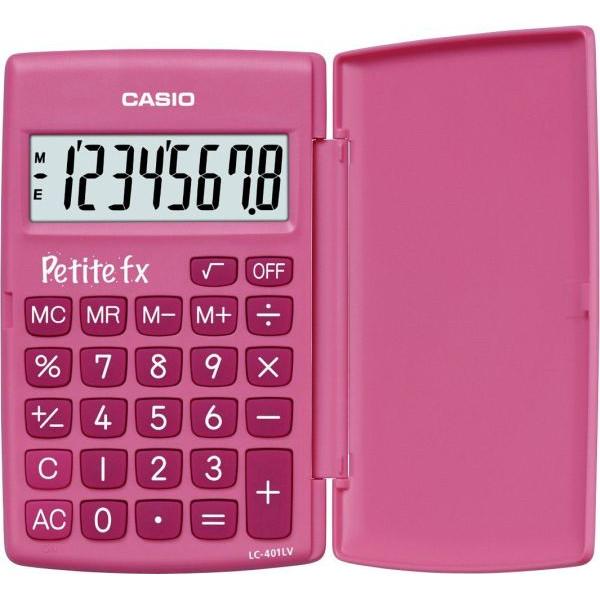 CASIO Taschenrechner Petite FX Batterie LCD-Display pink 1-zeilig 8-stellig