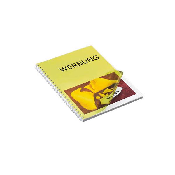 RENZ Umschlagfolien 20200074 A4 PVC 0,2 mm gelb-transparent glänzend 100 Stück