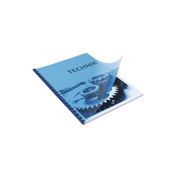 RENZ Umschlagfolien 20200034 A4 PVC 0,2 mm blau-transparent glänzend 100 Stück