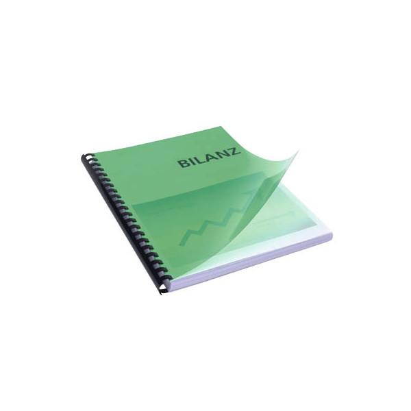 RENZ Umschlagfolien 20200044 A4 PVC 0,2 mm grün-transparent glänzend 100 Stück