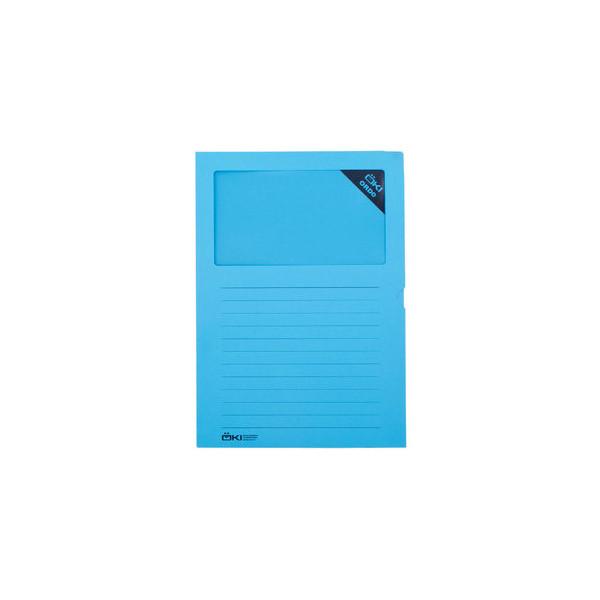 ÖKI Sichtmappe Ordo blau für lose Blätter mit Sichtfenster 100 Stück