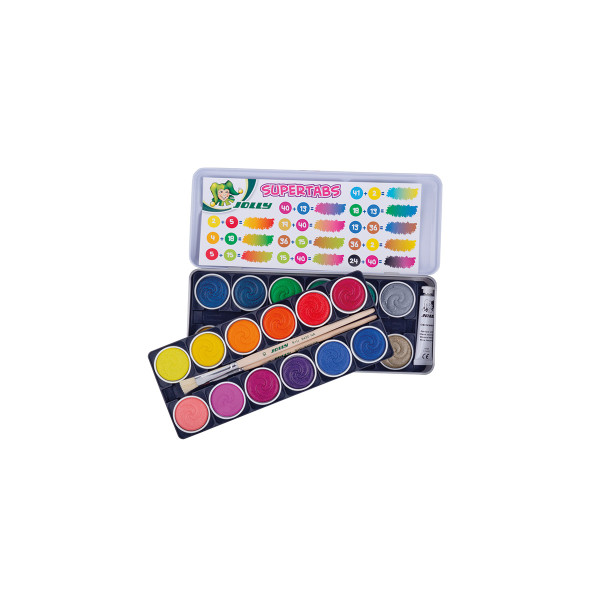 Jolly Wasserfarbkasten 9335 24 Farb