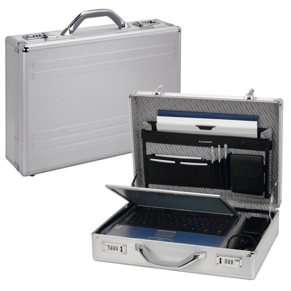 Alumaxx Notebook-Attachékoffer Kronos silber bis 17 Zoll
