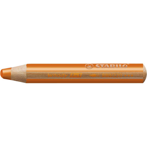 STABILO Woody Aquarellfarbstift orange