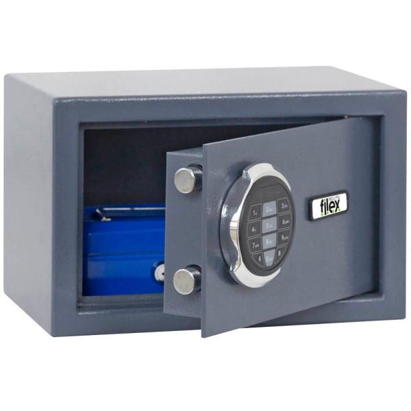 Reskal Sicherheitstresor SM1 9,5 l Sicherheitsschloss grau