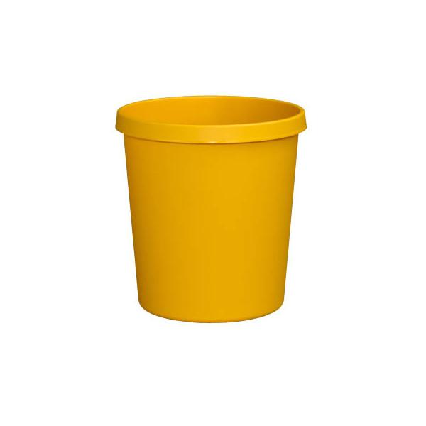 helit Papierkorb H61058, 18 Liter gelb