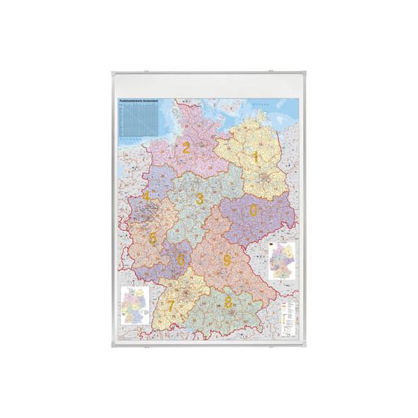 FRANKEN Postleitzahlenkarte Deutschland 1:750000 98x138cm magnetisch