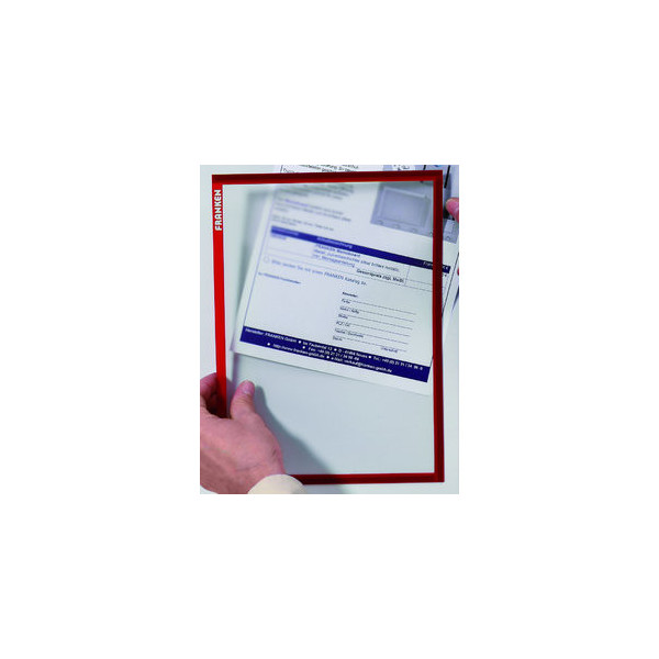 FRANKEN Dokumentenhalter A4 rot magnethaftend