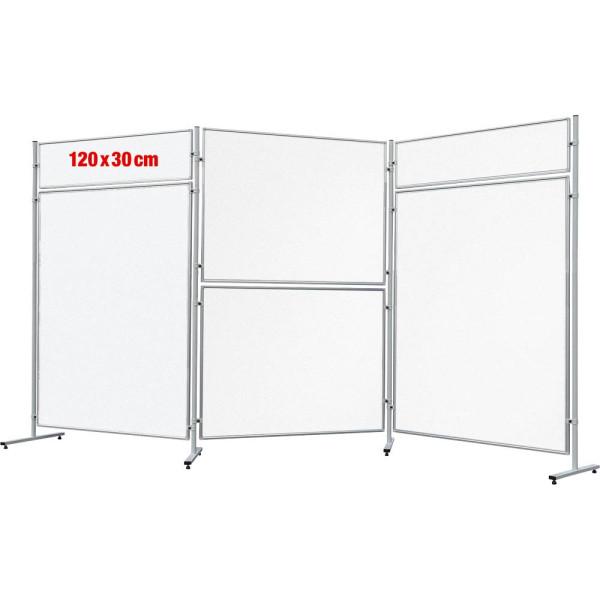 FRANKEN Stellwand Whiteboard 30 x 120 cm weiß