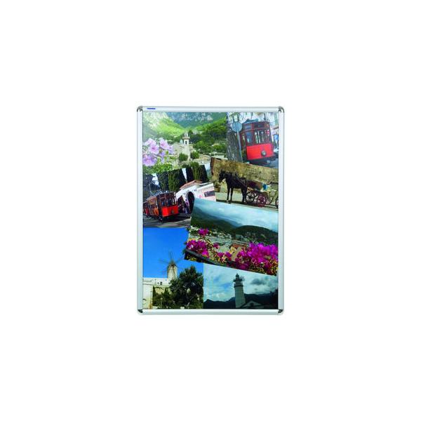 FRANKEN Plakat-Klapprahmen BS070 silber A1 mit Antireflexfolie