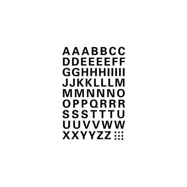 HERMA Buchstabenetikett Folie sw A-Z 10mm