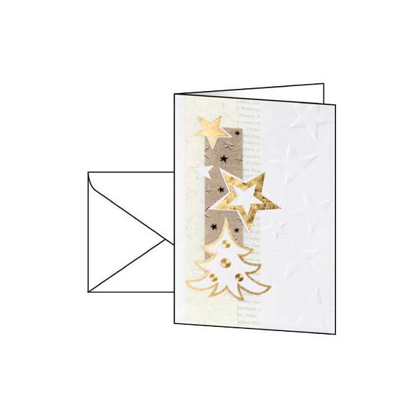 Sigel Weihnachtskarten White Christmas A6 10 Stück inkl. weißen Umschlägen DS376