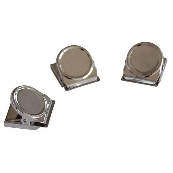 FRANKEN Magnetclip 35 mm silber 3St
