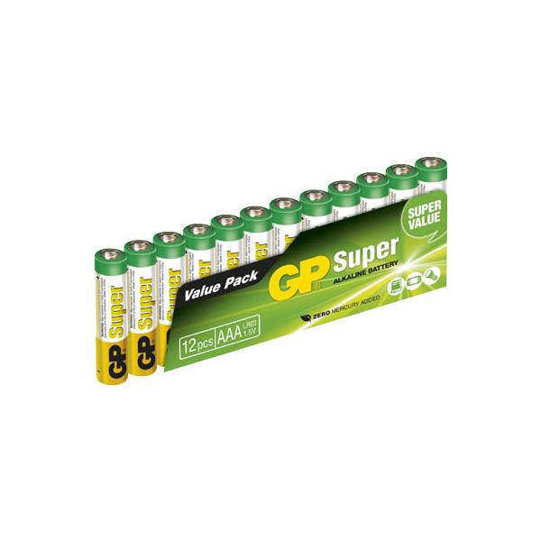 GP Batterie Super Micro / LR03 / AAA 12 Stück