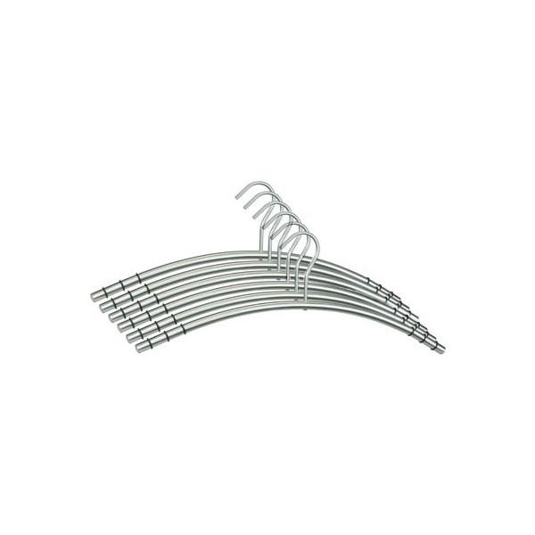 SZ Metall Kleiderbügel silber 6 Stück