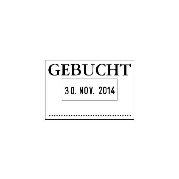 COLOP Datum-Plattenstempel GEBUCHT